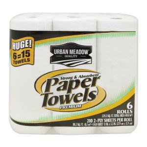 Urban Meadow - 2 Ply Huge Towels 6rl