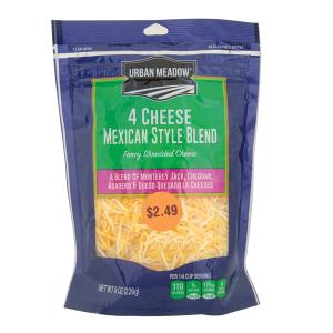 Urban Meadow - 4 Cheese Mexican Blend Shreds