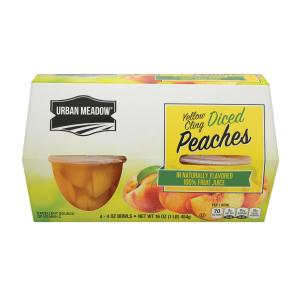 Urban Meadow - Diced Peaches in Jce Cups 4pk