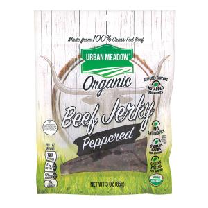 Urban Meadow Green - Organic Beef Jerky Peppered