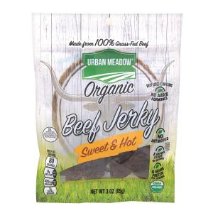 Urban Meadow Green - Organic Beef Jerky Sweet Hot