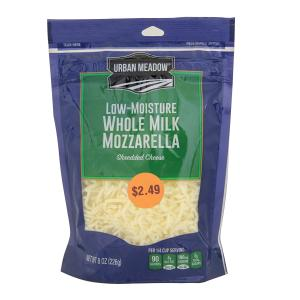 Urban Meadow - Whole Milk Mozzarella Shreds